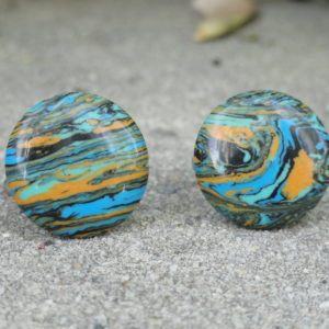 Abstract Expressionist Cufflinks Wedding K Featured