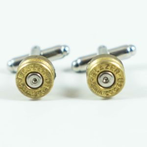 Blazer 9mm Luger Ammo Cufflinks Wedding Featured S