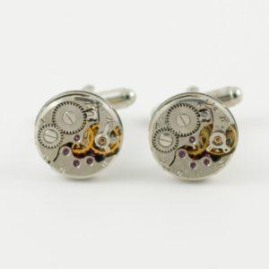Circular Steampunk Watch Movement Cufflinks Wedding K Featured