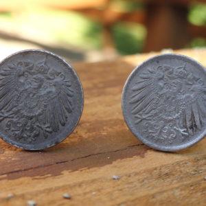 German Weimar Republic Coin Cufflinks Wedding K Featured