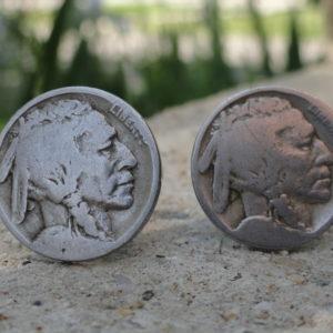 Indian Head Nickel Coin Cufflinks Wedding K Featured