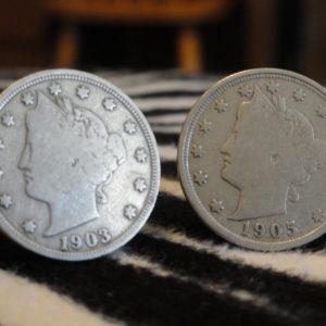 Liberty Head Nickel Coin Cufflinks Wedding K Featured
