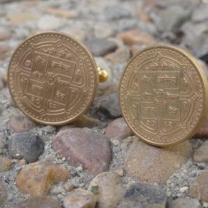 Nepali Coin Cufflinks Wedding K Featured