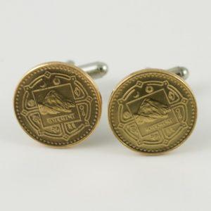 Nepali Mount Everest Rupee Coin Cufflinks Wedding K Featured