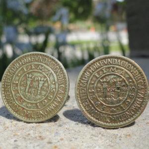 Peruvian Coin Cufflinks Wedding K Featured