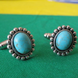 Turquoise Beads Vertical Cufflinks Wedding K Featured