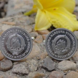 Yugoslavian 50 Para Coin Cufflinks Wedding K Featured