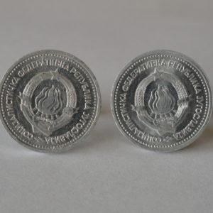 Yugoslavian Coin Cufflinks Wedding K featured