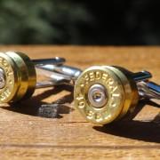 .40 Caliber Ammo Cufflinks Wedding K