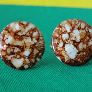 Amber Colored Spotted Sea Shell Cufflinks Wedding K Featured