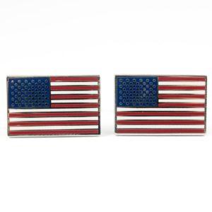 USA American Flag Cufflinks Wedding K Featured
