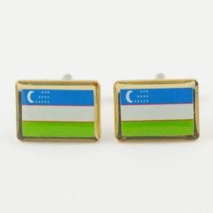 Uzbekistan Flag Cufflinks Uzbek Wedding K Featured