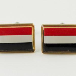 Yemen Flag Cufflinks Wedding K Featured