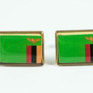 Zambian Flag Cufflinks Wedding Featured S