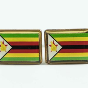 Zimbabwe Zimbabwean Flag Cufflinks Wedding Featured S