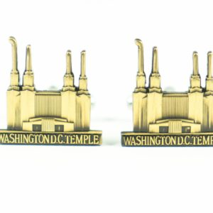 Washington DC LDS Mormon Temple Wedding Cufflinks Featured 1 S