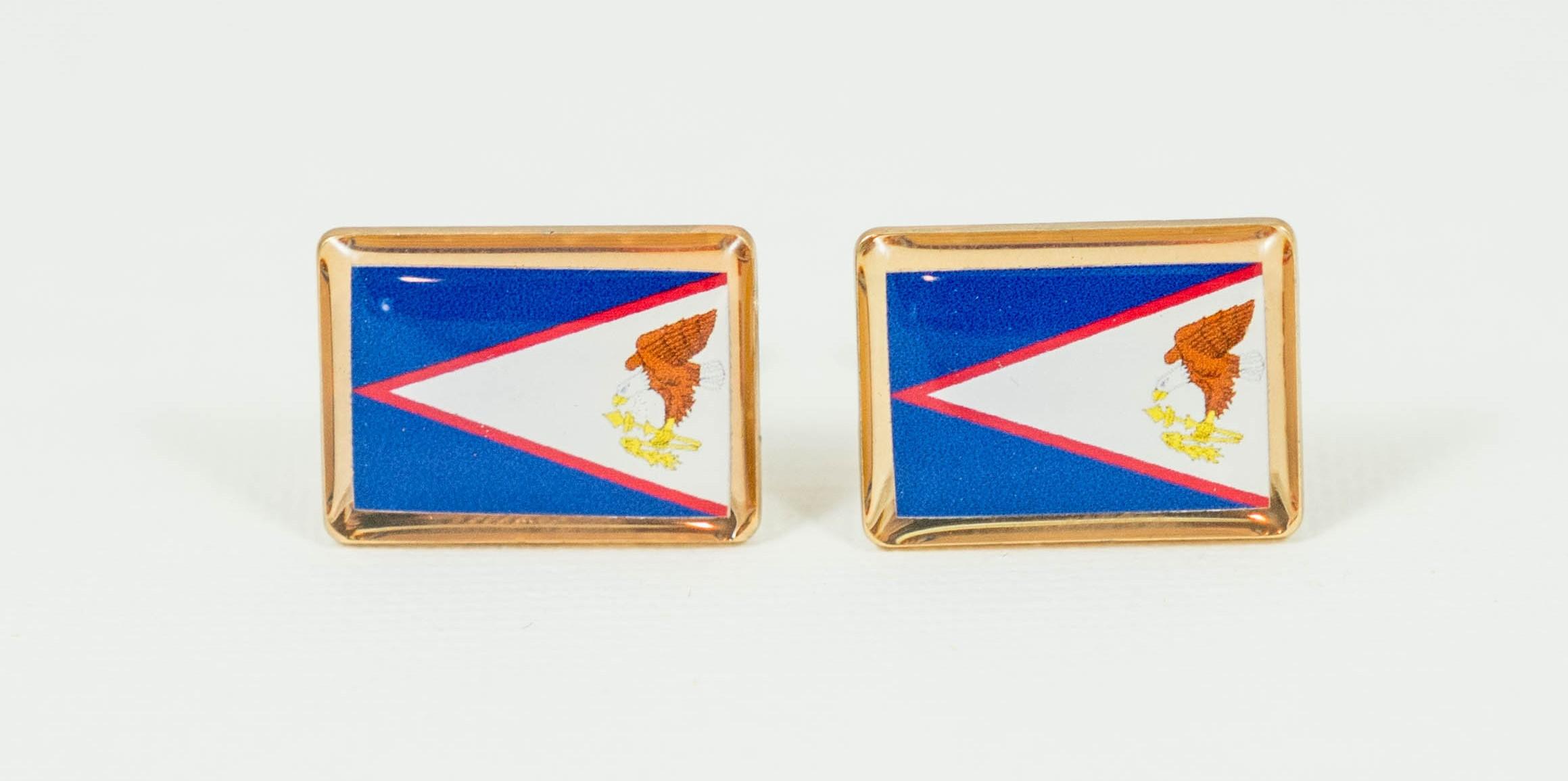 Samoan Flag Cufflinks