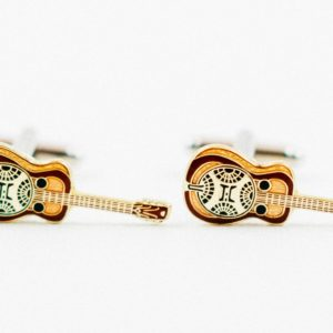 Resonator Guitar Music Instrument Folk Country Bluegrass Cufflinks Wedding S Featured