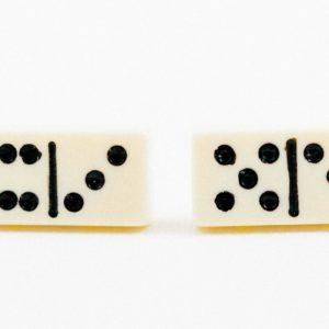 White Domino Dominoes Cufflinks Wedding S Featured